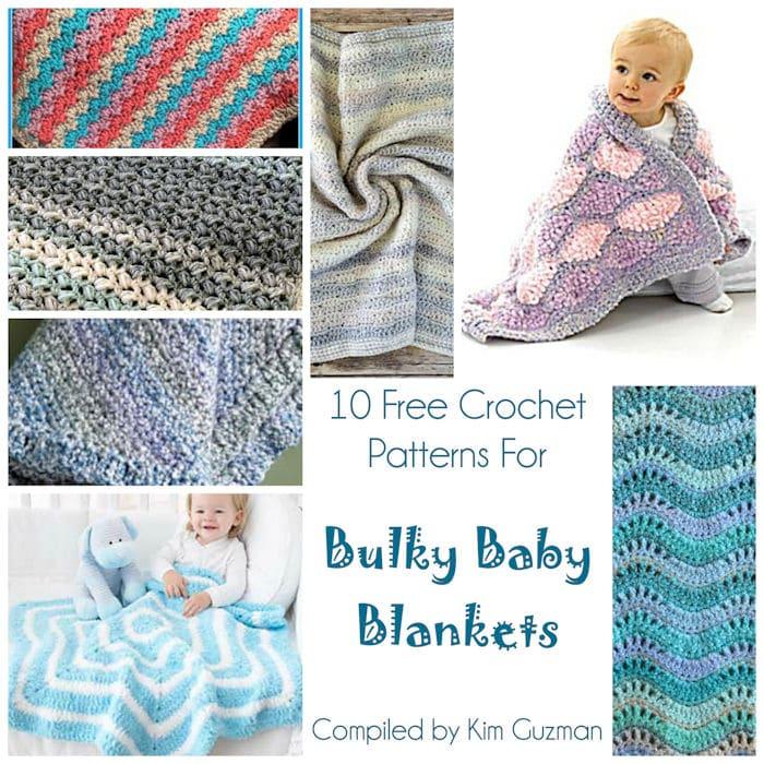 Link Blast: 10 Free Crochet Patterns for Bulky Baby Blankets