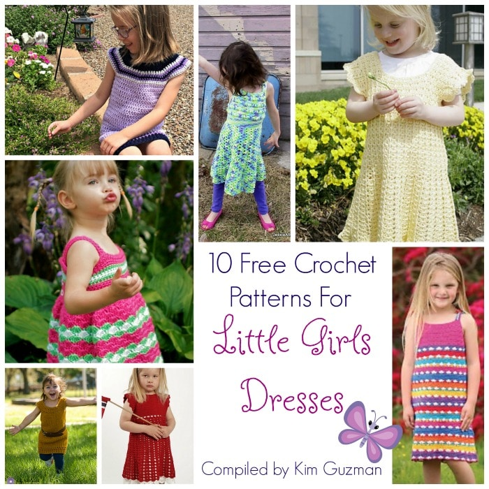 Link Blast 10 Free Crochet Patterns For Little Girls Dresses