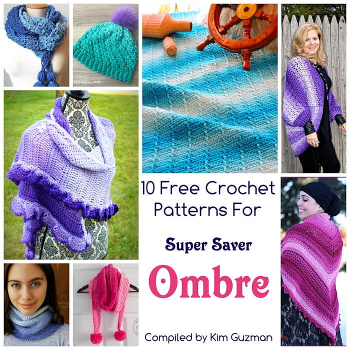 Link Blast 10 Free Crochet Patterns For Red Heart Super Saver Ombre