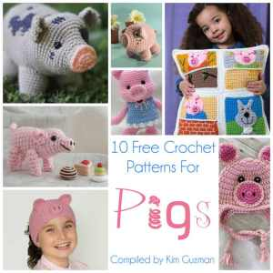 Link Blast: 10 Free Crochet Patterns for Piggy Pigs