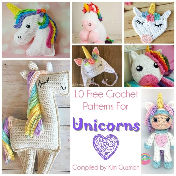Link Blast: 10 Free Crochet Patterns for Unicorns | CrochetKim™
