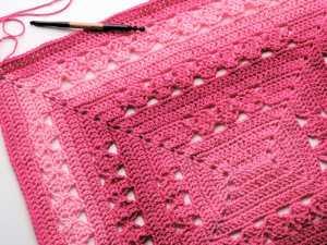 Lunar Crossings Rectangle Blanket | CrochetKim Free Crochet Pattern