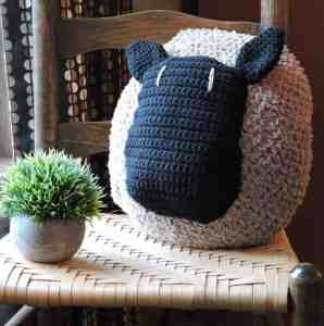 Love My Sheep Pillow CrochetKim Free Crochet Pattern