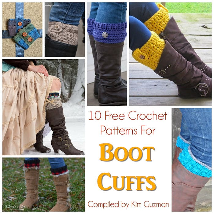 Link Blast: 10 Free Crochet Patterns for Stylish Boot Cuffs Boot Toppers