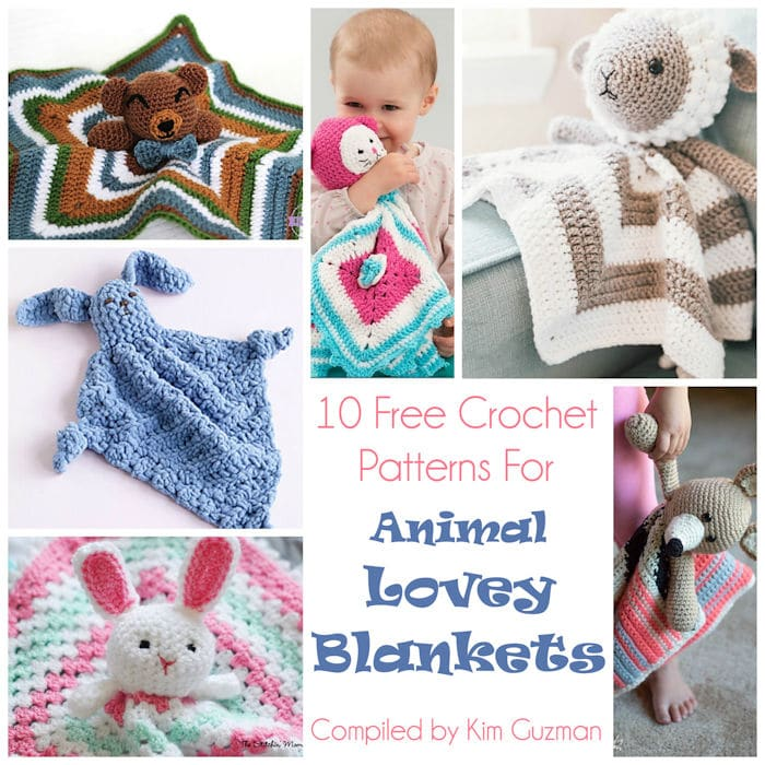 Link Blast 10 Free Crochet Patterns For Animal Lovey Blankets