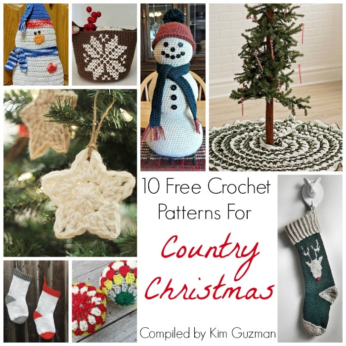 Link Blast: 10 Free Crochet Patterns for Country Christmas Decor ...
