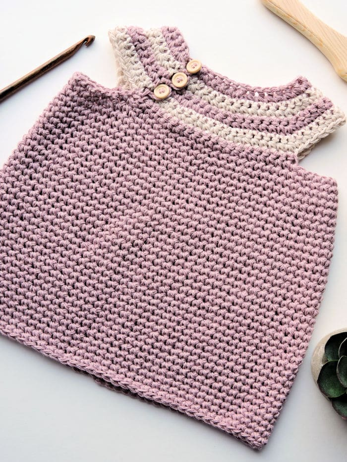 Desert Willow Baby Infant Dress | CrochetKim Free Crochet Pattern