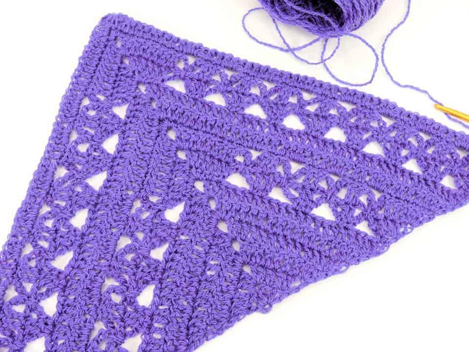 Lunar Crossings Shawl | CrochetKim Free Crochet Pattern