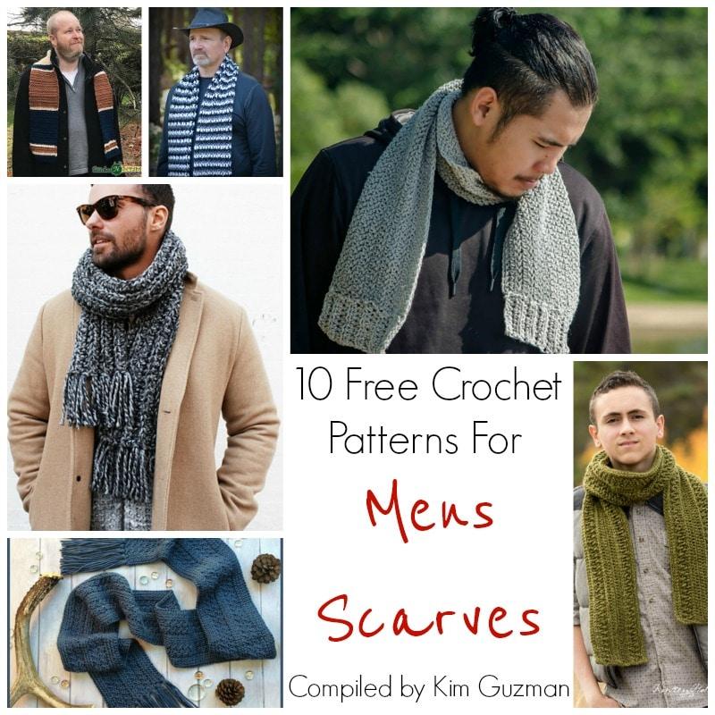 Link Blast: 10 Free Crochet Patterns for Men's Scarves