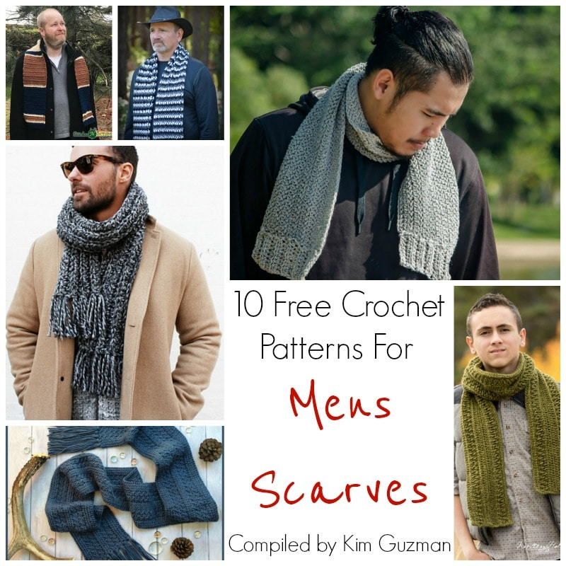 Link Blast 10 Free Crochet Patterns For Mens Scarves Crochetkim