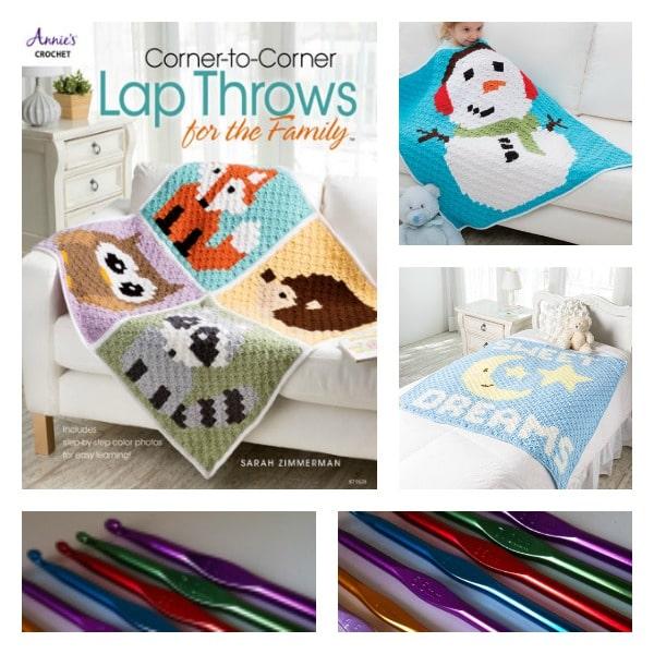 Giveaway: Corner to Corner Lap Throws by Sarah Zimmerman