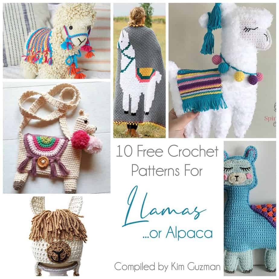 Link Blast: 10 Free Crochet Patterns for Llamas (or Alpaca)