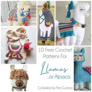 Link Blast: 10 Free Crochet Patterns for Llamas (or Alpacas)