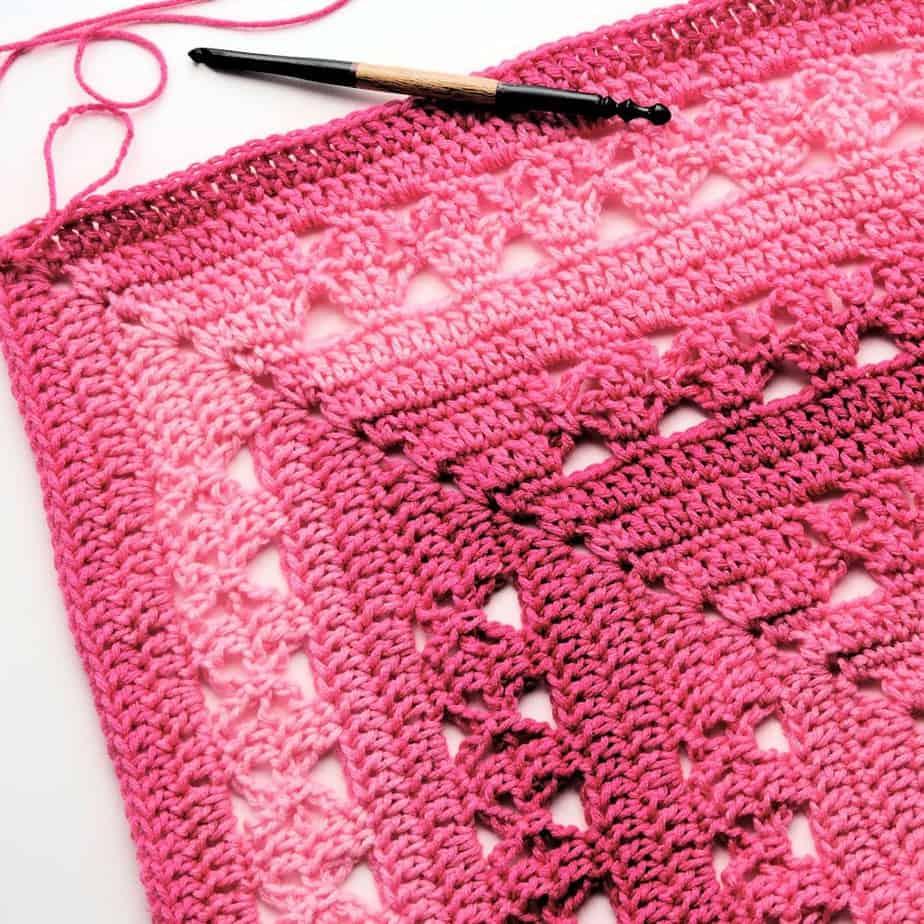 Lunar Crossings Rectangle Blanket CrochetKim Free Crochet Pattern