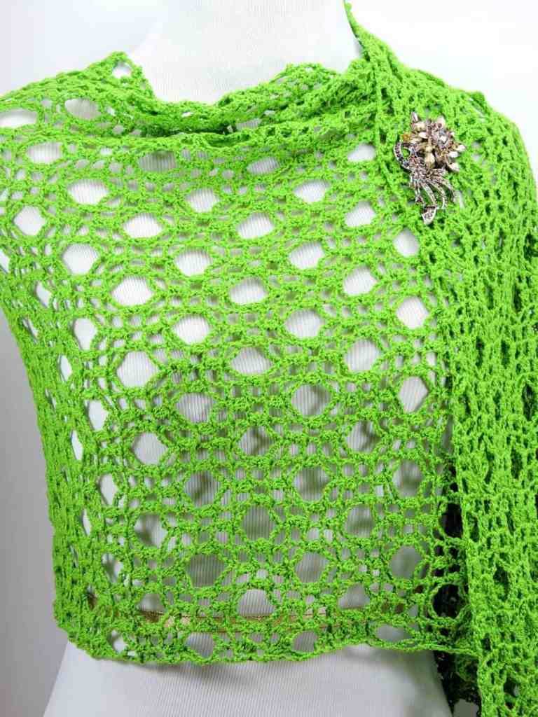 Wedding Rings Fling Shawl Wrap CrochetKim Free Crochet Pattern
