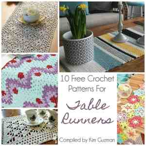 Link Blast: 10 Free Crochet Patterns for Table Runners