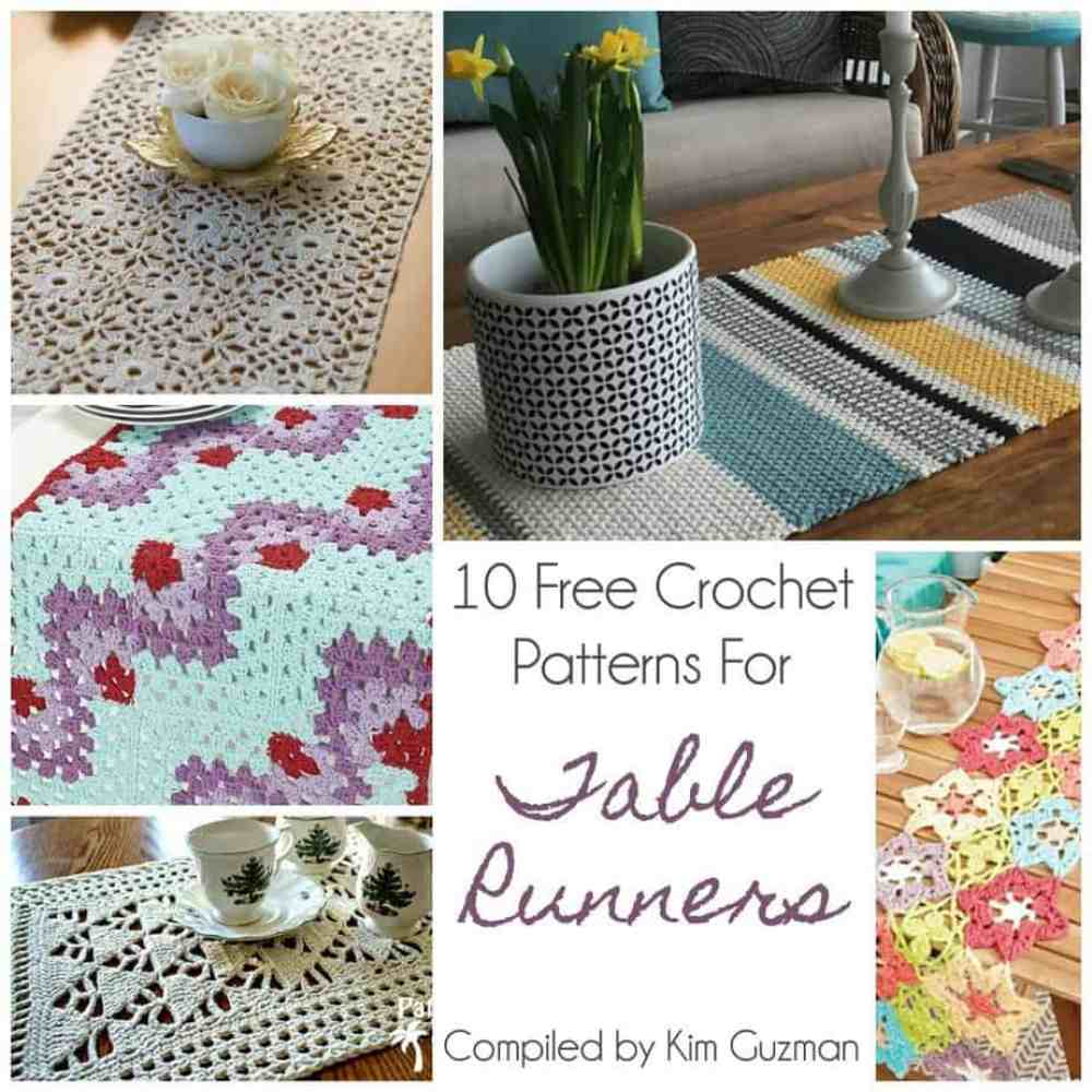 Link Blast 10 Free Crochet Patterns For Table Runners