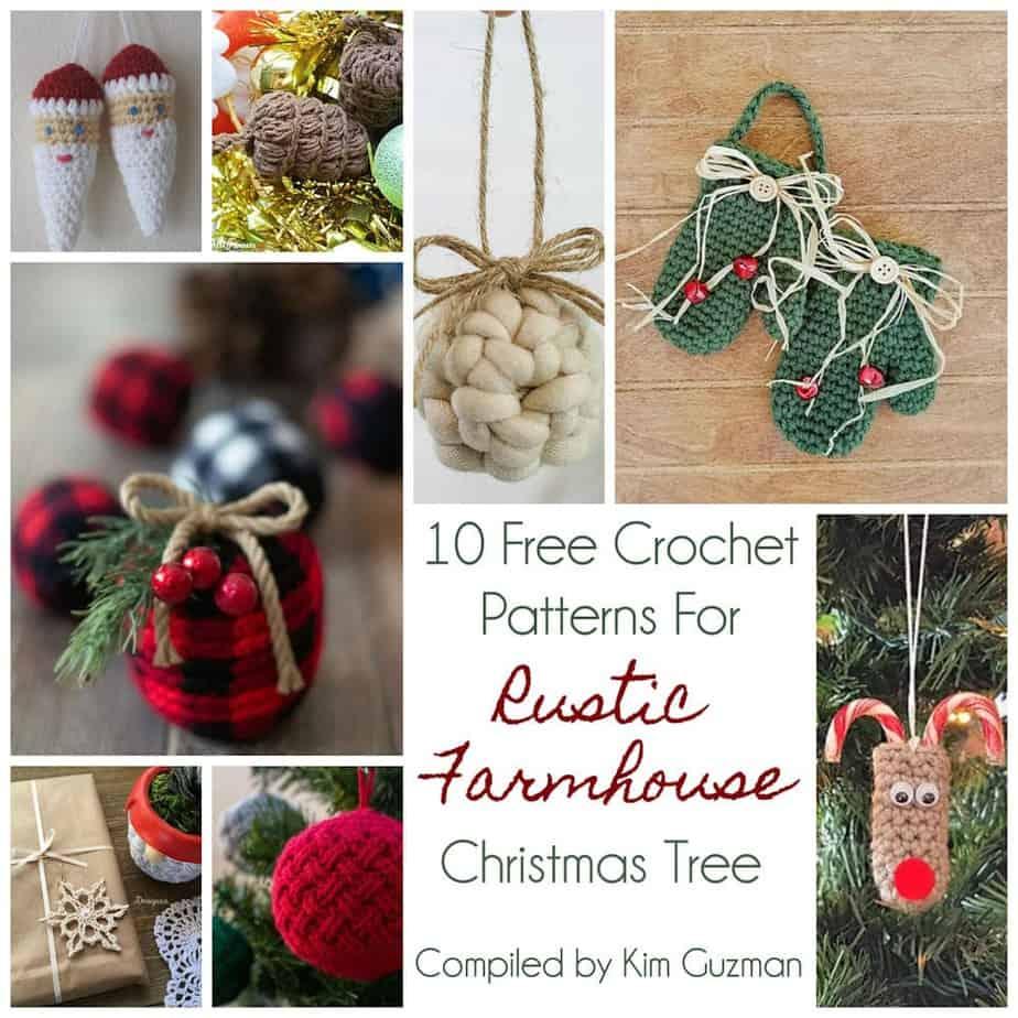 Link Blast: 10 Free Crochet Patterns for a Rustic Farmhouse Christmas Tree