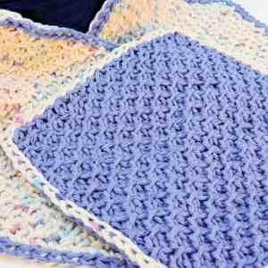 Honeycomb Scrubs Washcloth CrochetKim Free Crochet Pattern