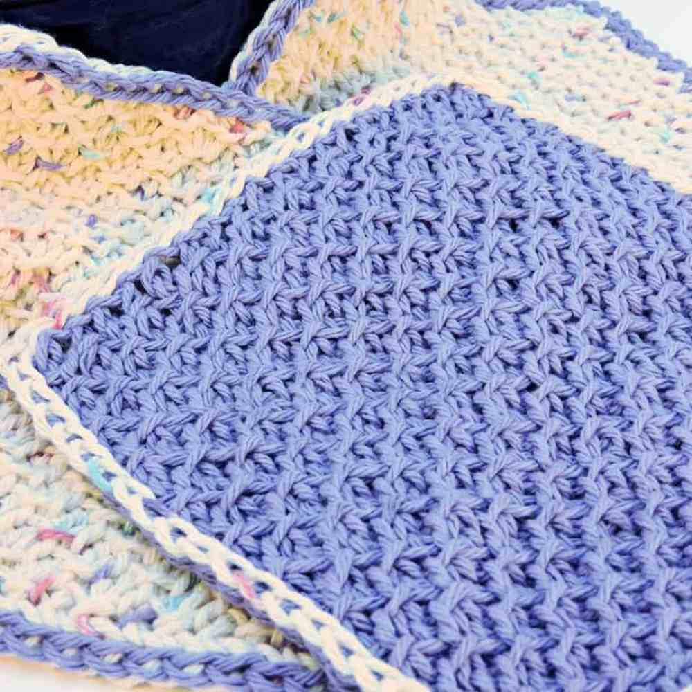 Honeycomb Scrubs Washcloth CrochetKim Free Tunisian Crochet Pattern