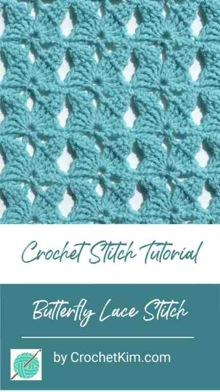 Butterfly Lace CrochetKim Free Crochet Stitch Tutorial