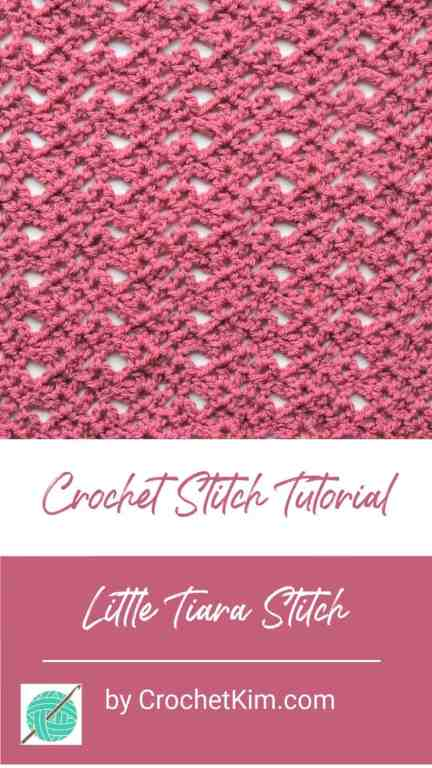 Little Tiara CrochetKim Free Crochet Stitch Tutorial