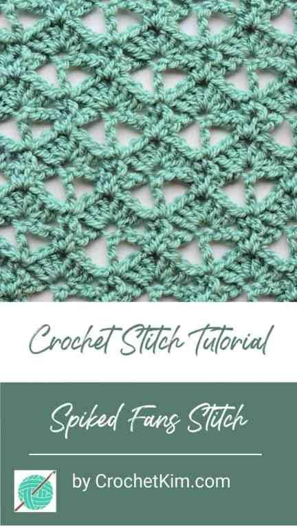 Spiked Fans CrochetKim Free Crochet Stitch Tutorial