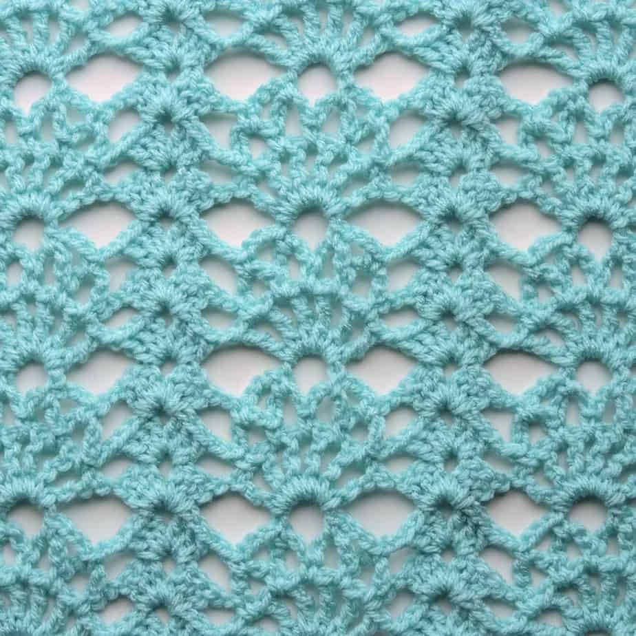 Sunspray Lace Free Crochet Stitch Tutorial