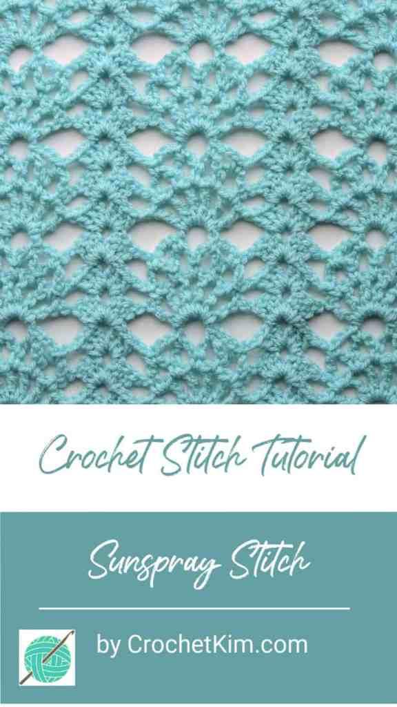 Sunspray Lace CrochetKim Free Crochet Stitch Tutorial