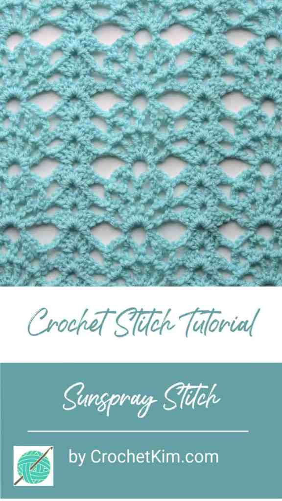 Sunspray Lace CrochetKim Free Crochet Stitch Tutorial