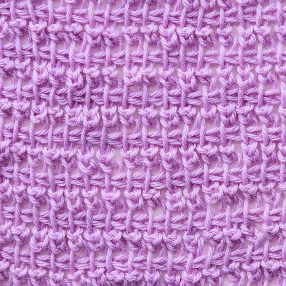 Tunisian Double Extended Stitch in TSS CrochetKim Crochet Stitch Tutorial
