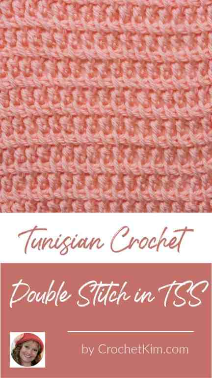 Tunisian Double Stitch in TSS CrochetKim Crochet Stitch Tutorial