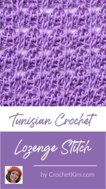 Tunisian Lozenge Stitch CrochetKim Crochet Stitch Tutorial