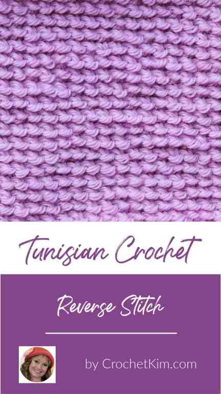 Tunisian Reverse Stitch CrochetKim Crochet Stitch Tutorial