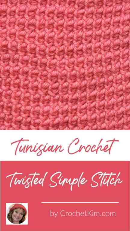 Tunisian Twisted Simple Stitch CrochetKim Crochet Stitch Tutorial