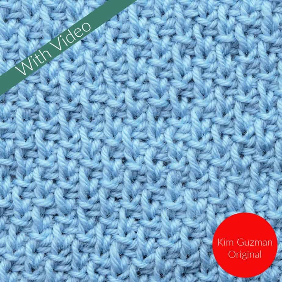 Tunisian Alternating Knit and Purled Knit CrochetKim Crochet Stitch Tutorial