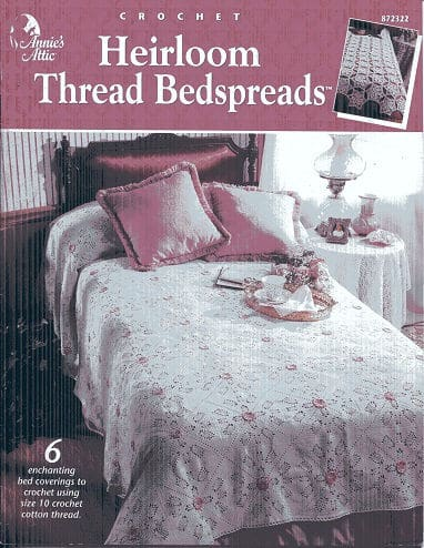 Rosebuds in the Snow Bedspread CrochetKim Free Crochet Pattern