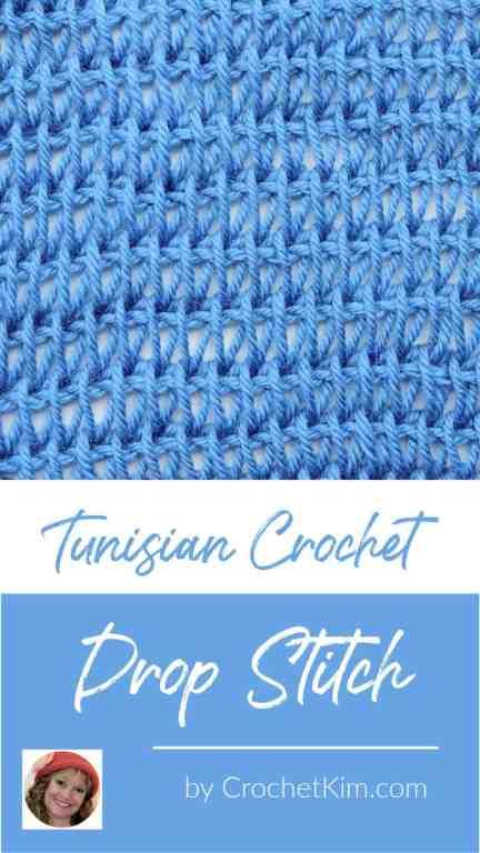 Tunisian Drop Stitch CrochetKim Crochet Stitch Tutorial