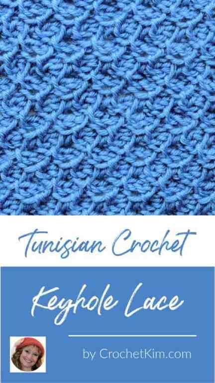 Tunisian Keyhole Lace CrochetKim Crochet Stitch Tutorial