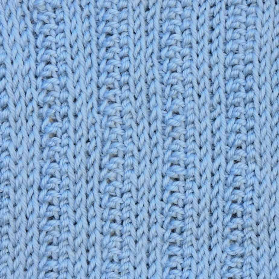 Tunisian Knit Reverse Ribbing 3x1 CrochetKim Crochet Stitch Pattern