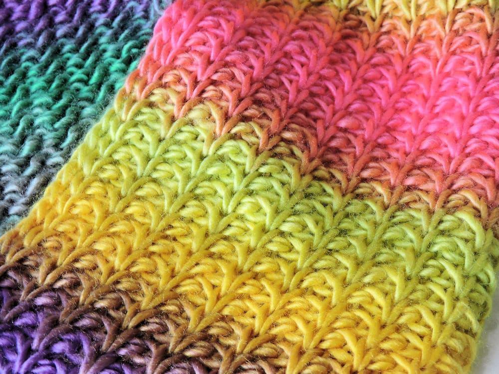 Tunisian Crochet Fiesta Cowl CrochetKim Free Tunisian Crochet Pattern