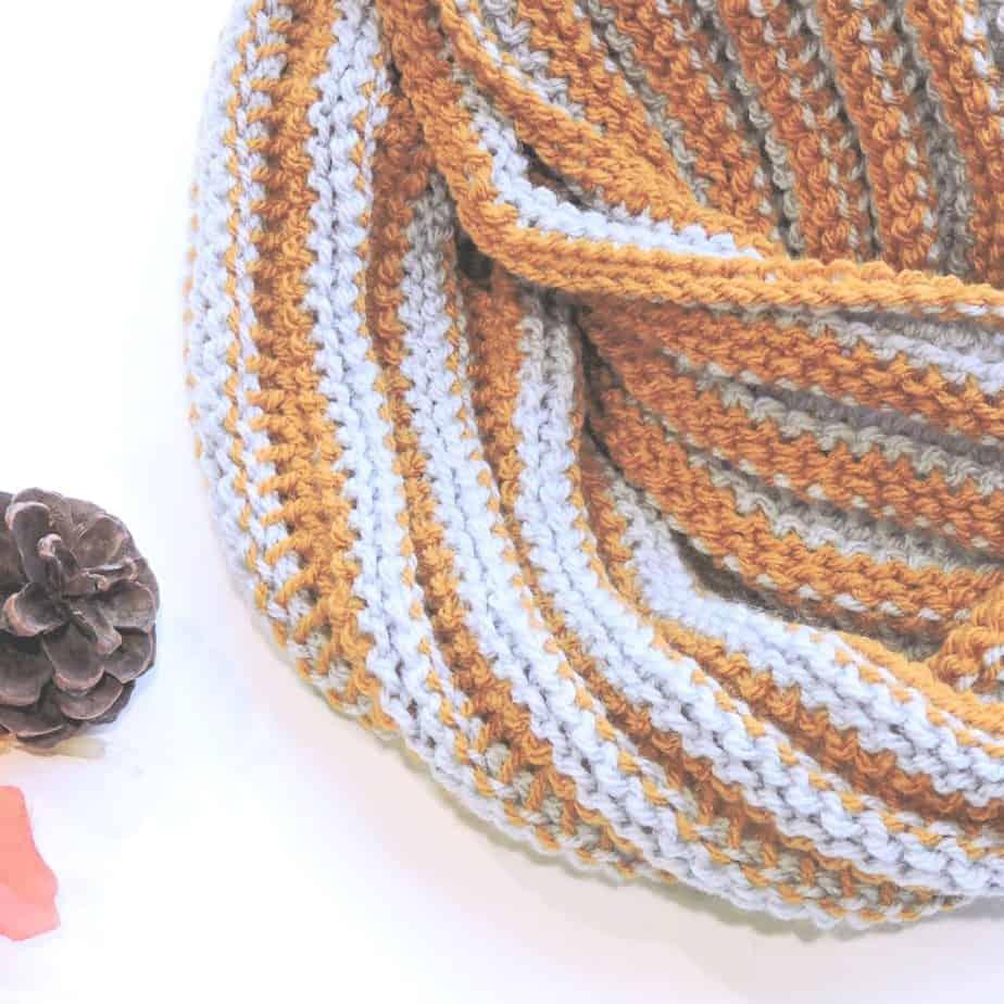 Day Trekking Scarf CrochetKim Free Reversible Tunisian Crochet Pattern