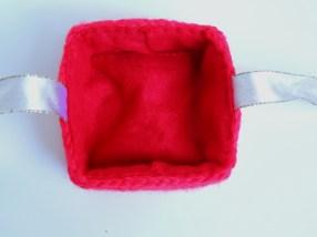 Crocheted Christmas Gift Box