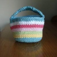 Mini Basket Purse - In Candy Stripes