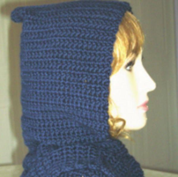 Crochet Bernat Satin Hooded Scarf ~ FREE Crochet Pattern
