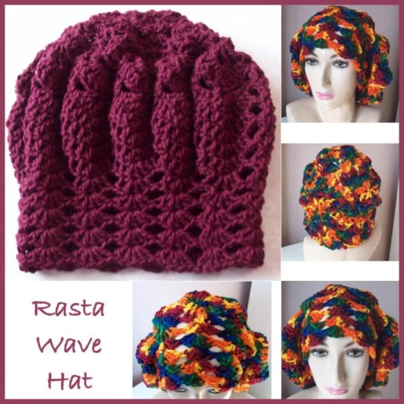Rasta Wave Hat Free Crochet Pattern