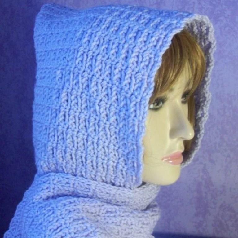 Beginner Chain Stitch Hooded Scarf ~ FREE Crochet Pattern