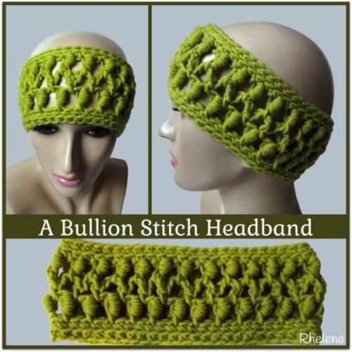 A Bullion Stitch Headband ~ FREE Crochet Pattern