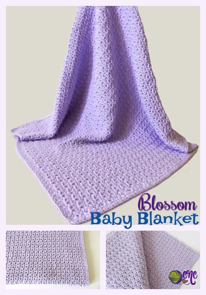 Free crochet pattern for a blossom baby blanket using the crochet blossom stitch pattern.