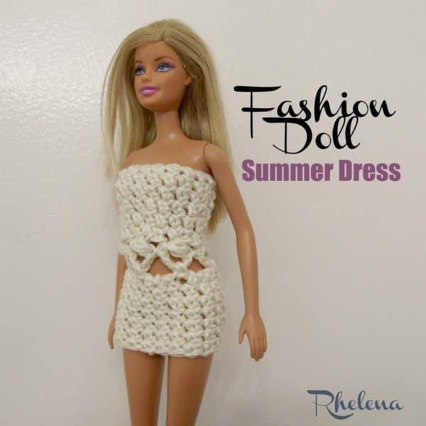 Fashion Doll Summer Dress - CrochetN\'Crafts
